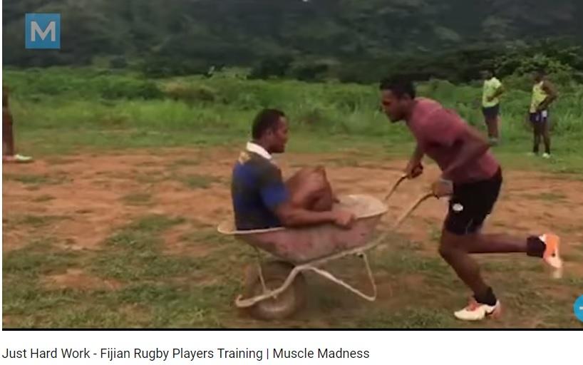 Old School Fiji Rugby Training